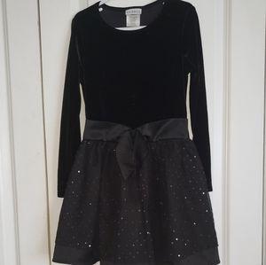 Girls Satin & Velvet Dress